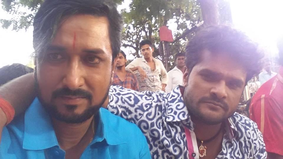Khesari Lal Yadav, Kajal Raghwani Shooting stills of Bhojpuri Movie Mehndi Laga Ke Rakhna