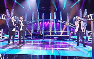 Argel, Nacho y Quino cantan Contigo en la distancia de Luis Miguel