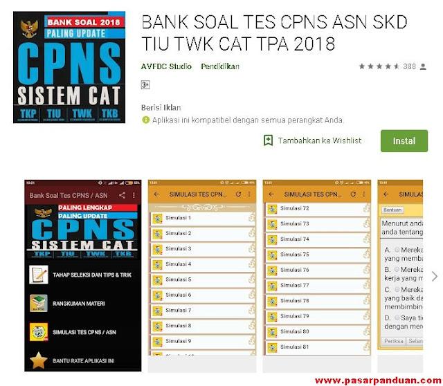 Simulasi Ujian soal CAT CPNS 2018