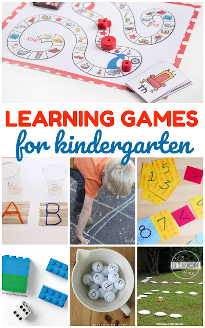 Kindergarten Games - over 35 fun, engaging learning games for Kindergarten age kids to practice sight words, alphabet letters, math, and more. #kindergarten #kindergartengames #learninggames #kindergartenworksheetsandgames
