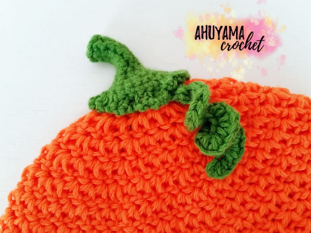 imagen gorro de calabaza a crochet ahuyama crochet