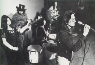 1974 L to R Julie Needham, Mark Hornibrook, Kerry Jacobsen, Rick Bryant, Robert Taylor and Tony Backhouse.