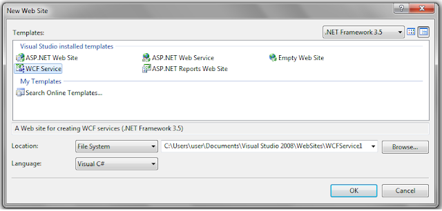 Call WCF Service from jQuery Ajax JSON Example in Asp net