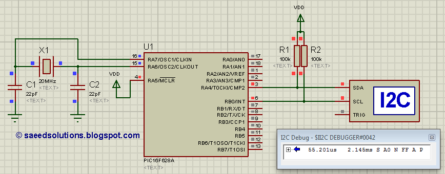 8051 i2c (bit banging) code + Proteus simulation