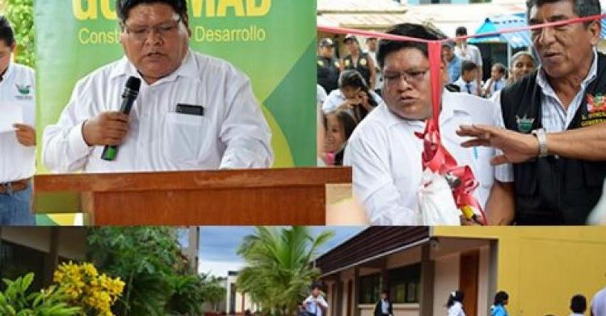 Inauguran moderna infraestructura del Colegio Raúl Vargas Quiroz de la comunidad de Alegría, distrito de Las Piedras - Tambopata - DRE Madre de Dios