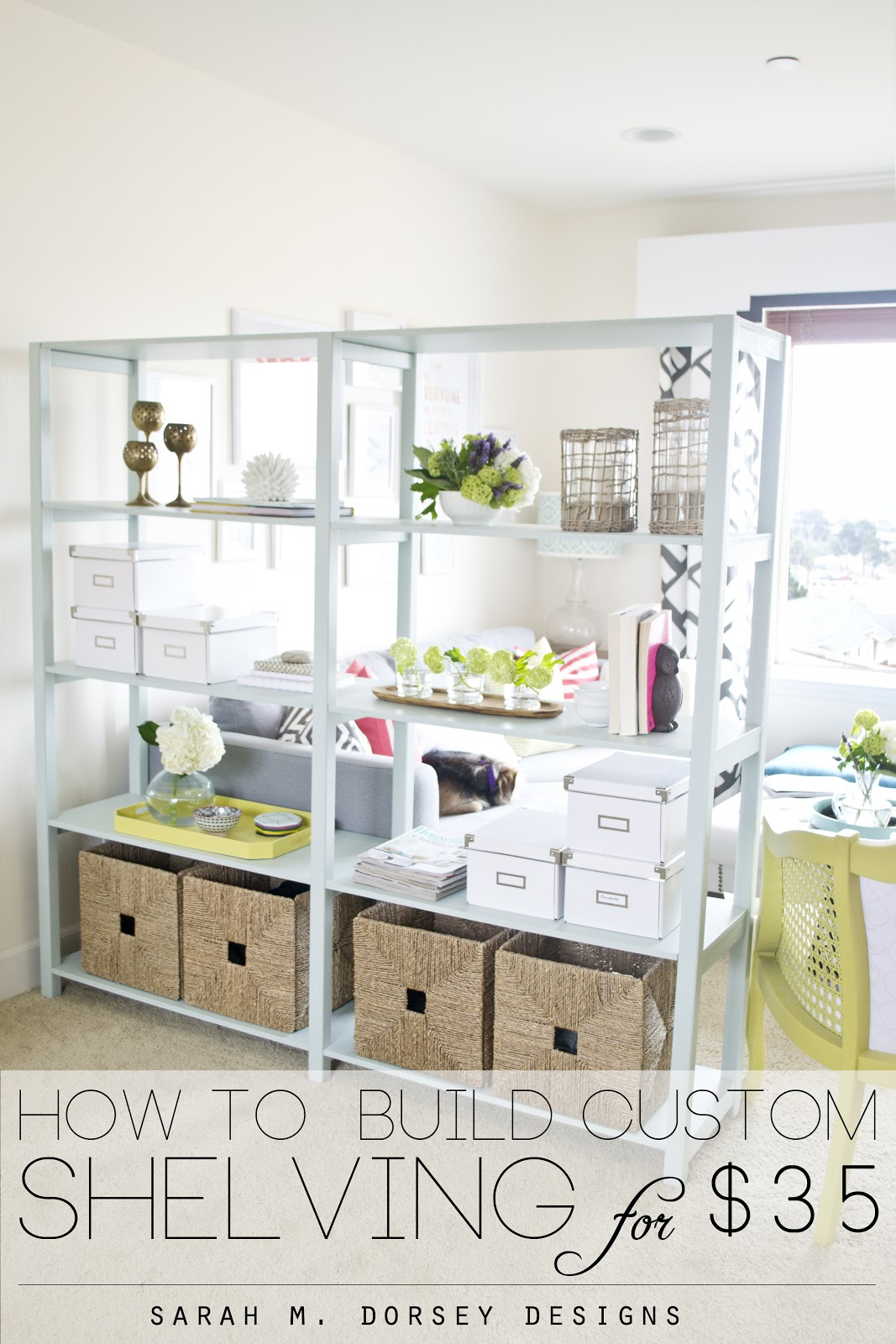 How To Build Custom Shelving For Only 35
