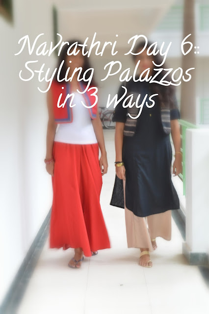 Navrathri Day 6: Palazzo pants for a wedding. image