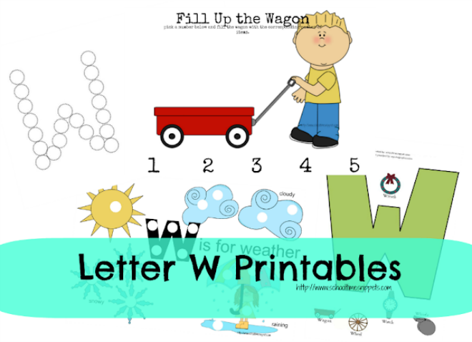 Letter w printables