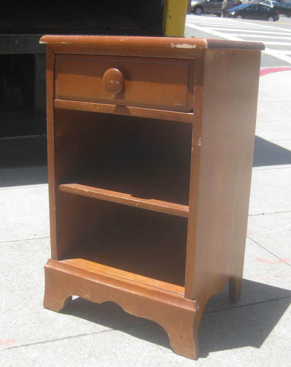 UHURU FURNITURE & COLLECTIBLES: SOLD - Maple Night Stand - $25