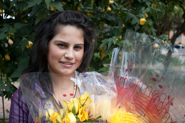 Bogotá vendedoras al detal de florres