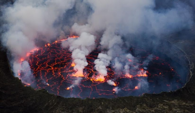 gunung kirunga vulcano