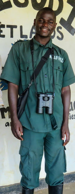 Rogers, our Bigodi Wetlands Guide in Uganda