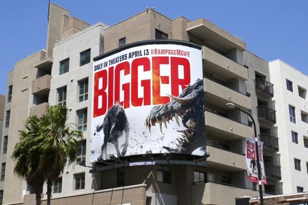 Bigger Rampage movie billboard