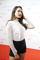 Pragya Jaiswal in lovely Black Mini Skirt and White Transparent Shirt ~  Exclusive 014.JPG