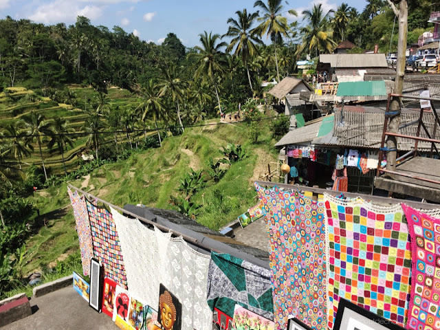 rice terraces and balinese crochet