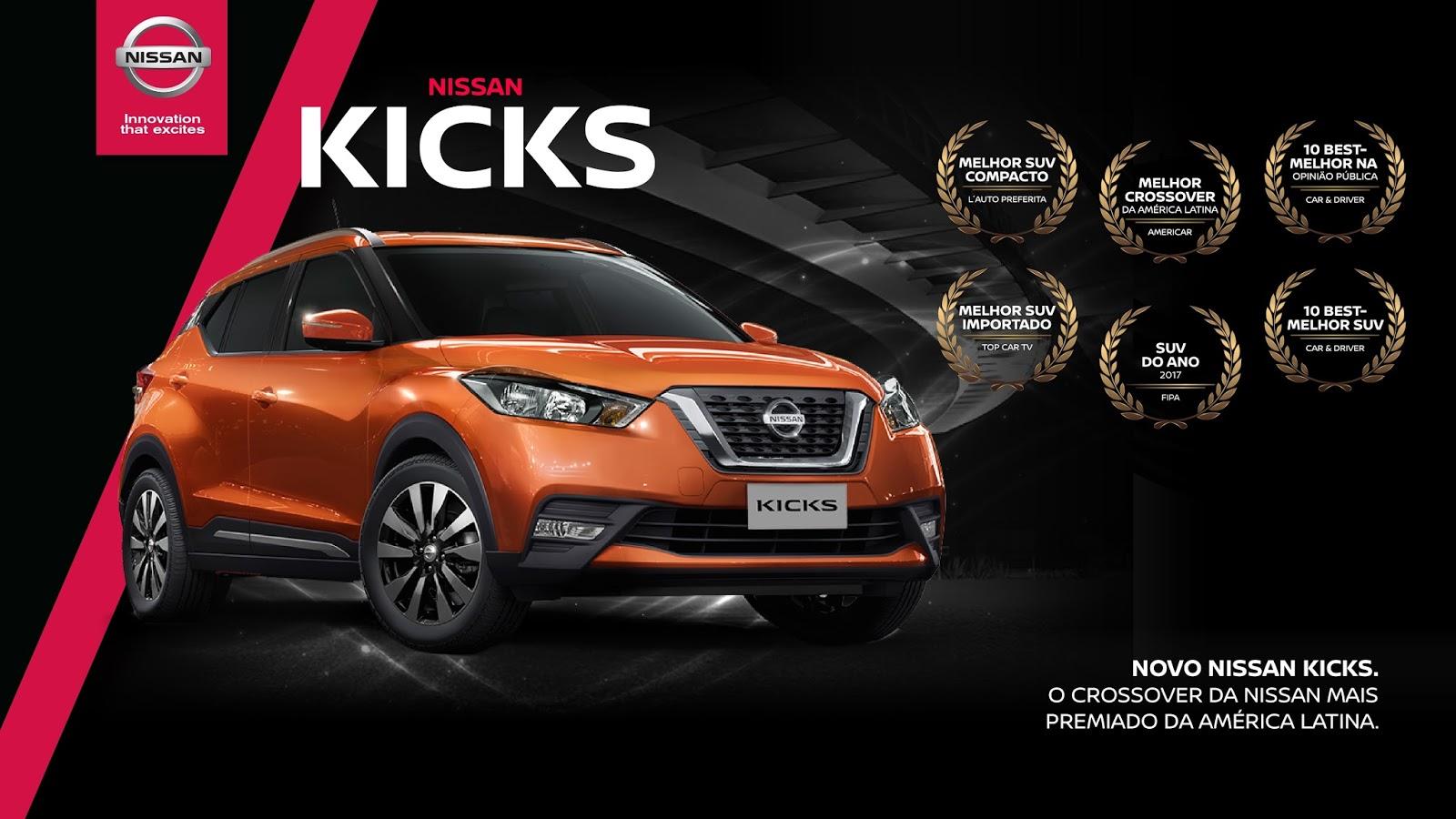 Nissan Kicks é o SUV mais premiado em toda a América Latina