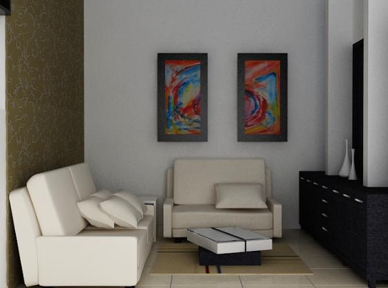 Desain Ruang Tamu Apartemen Kecil 1