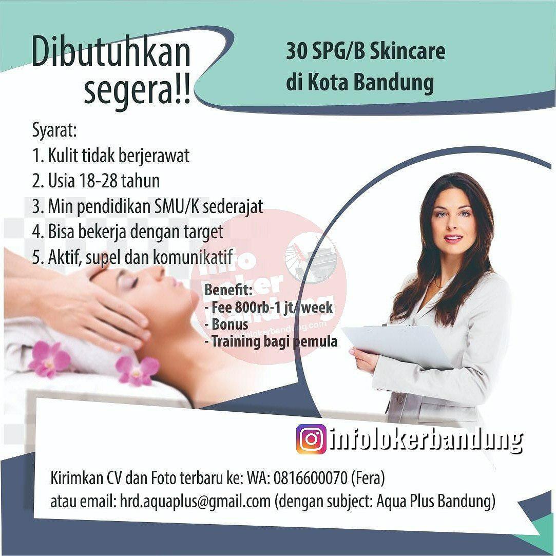 Lowongan Kerja Aqua Plus Bandung Mei 2019