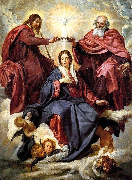 """""""A Coroação da Virgem"""" - Pintura de Diego Velázquez (1599-1660)"""
