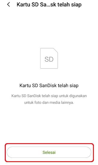 Menjadikan SD Card Penyimpanan Internal