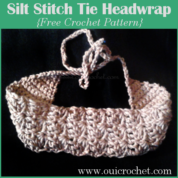 This stylish crochet headwrap sports the lovely silt stitch, and makes a wonderful addition to your hair accessories collection. Wear it for long hairstyles or short hairstyles. #OuiCrochet