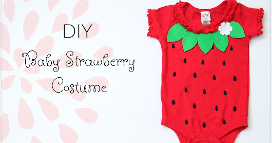 DIY Baby Strawberry Costume for Halloween