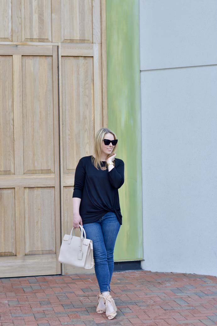 Knotted Front Tee Outfit @rachmccarthy7