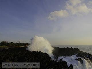 water blow di Pantai Nusa Dua Bali