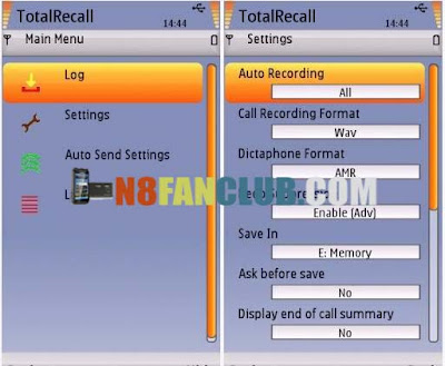KillerMobile Total Recall 5 6 Call Recorder for Nokia N8