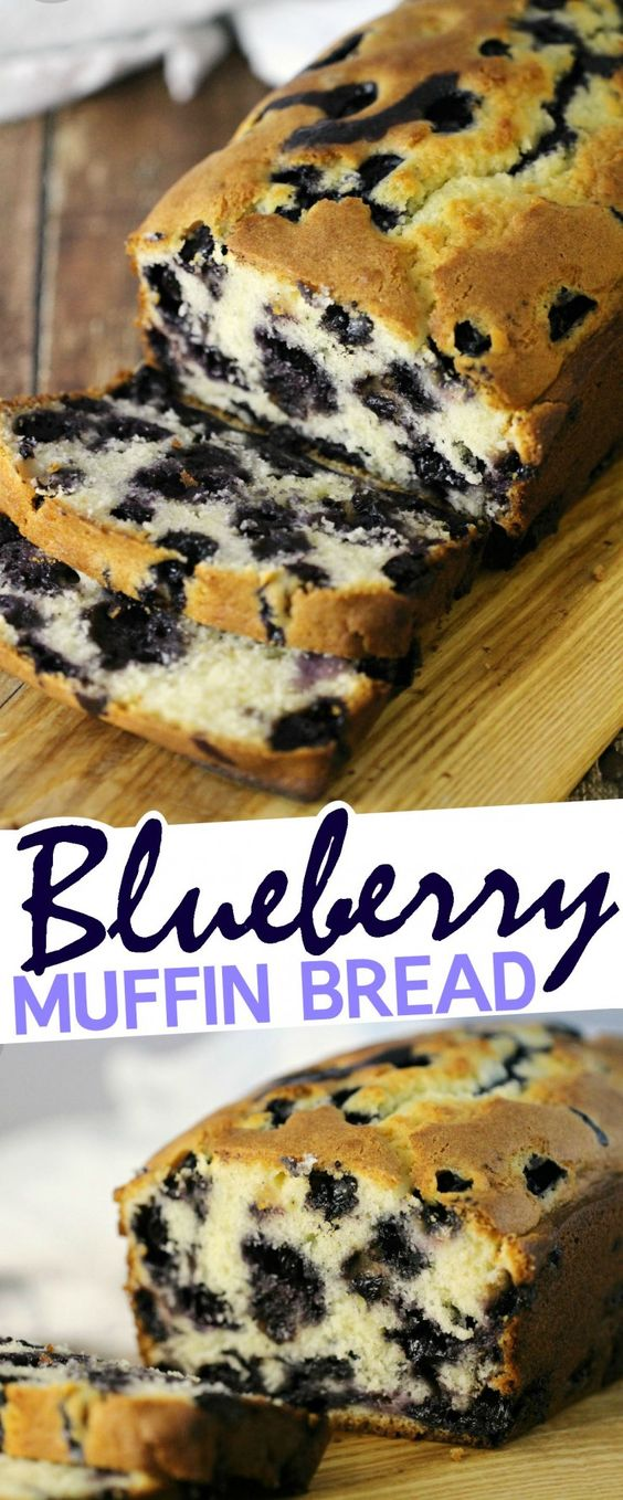 ★★★★☆ 3209 ratings     | BLUEBERRY MUFFIN BREAD RECIPE #BLUEBERRY #MUFFIN #BREAD #RECIPE #SWEET