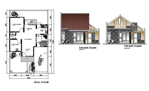 Membaca Denah Rumah Minimalis Desain Rumah