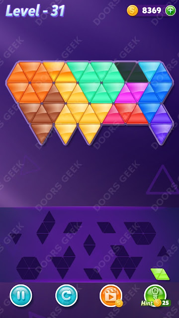 Block! Triangle Puzzle 12 Mania Level 31 Solution, Cheats, Walkthrough for Android, iPhone, iPad and iPod