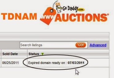 How to Buy Expired Domain from GoDaddy TDNAM : eAskme