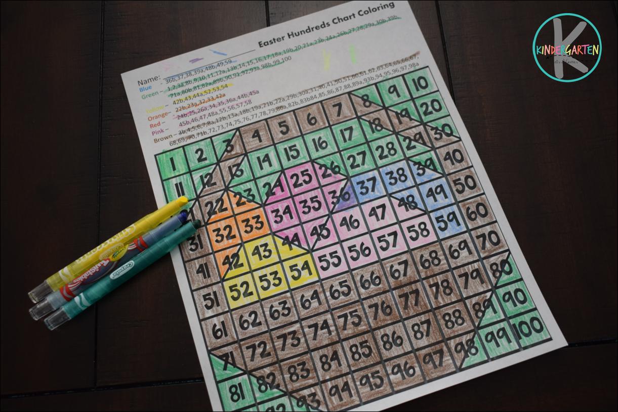 Kindergarten Worksheets And Games Free Hundreds Chart