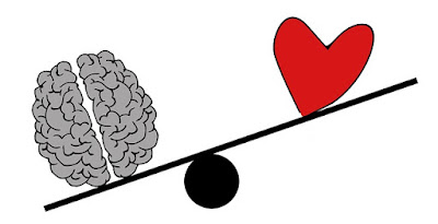 Brain and Heart on a Teeter-Totter with Brain too Heavy