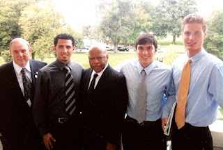 Dr. Wood and students with Congressman John Lewis