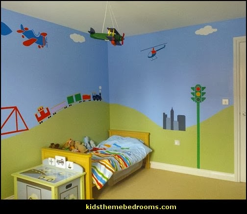 Decorating theme bedrooms maries manor transportation for Aviation decoration ideas