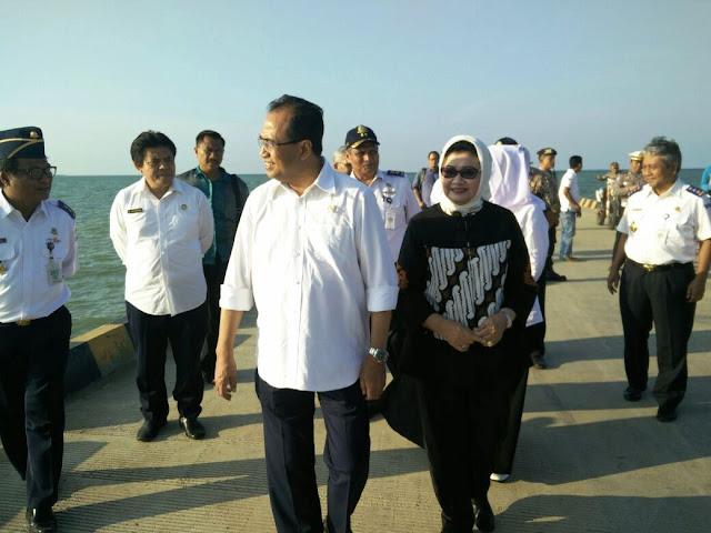 Mentri Perhubungan Kunjungi Proyek Pelabuhan Patimban