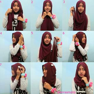 Tutorial Hijab Untuk Pergi Hangout Bareng Teman-Teman
