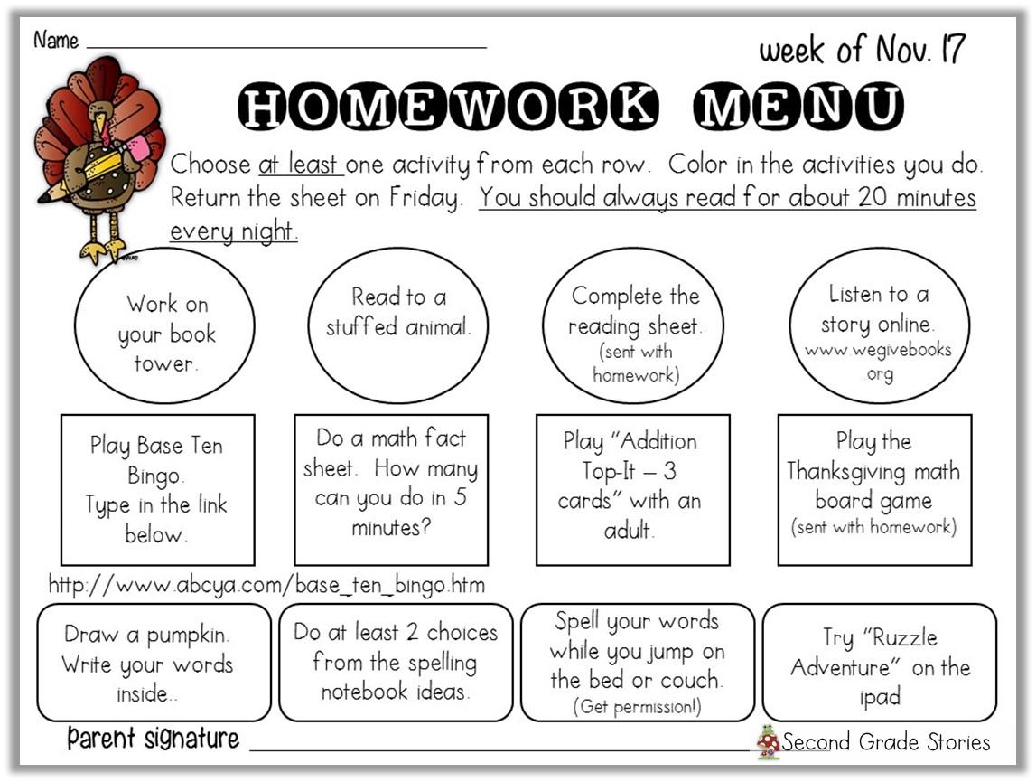 Homework Choices