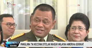 Deplu AS : Bukan Kami yang Menolak Panglima TNI, Silakan Tanya ke Bea Cukai