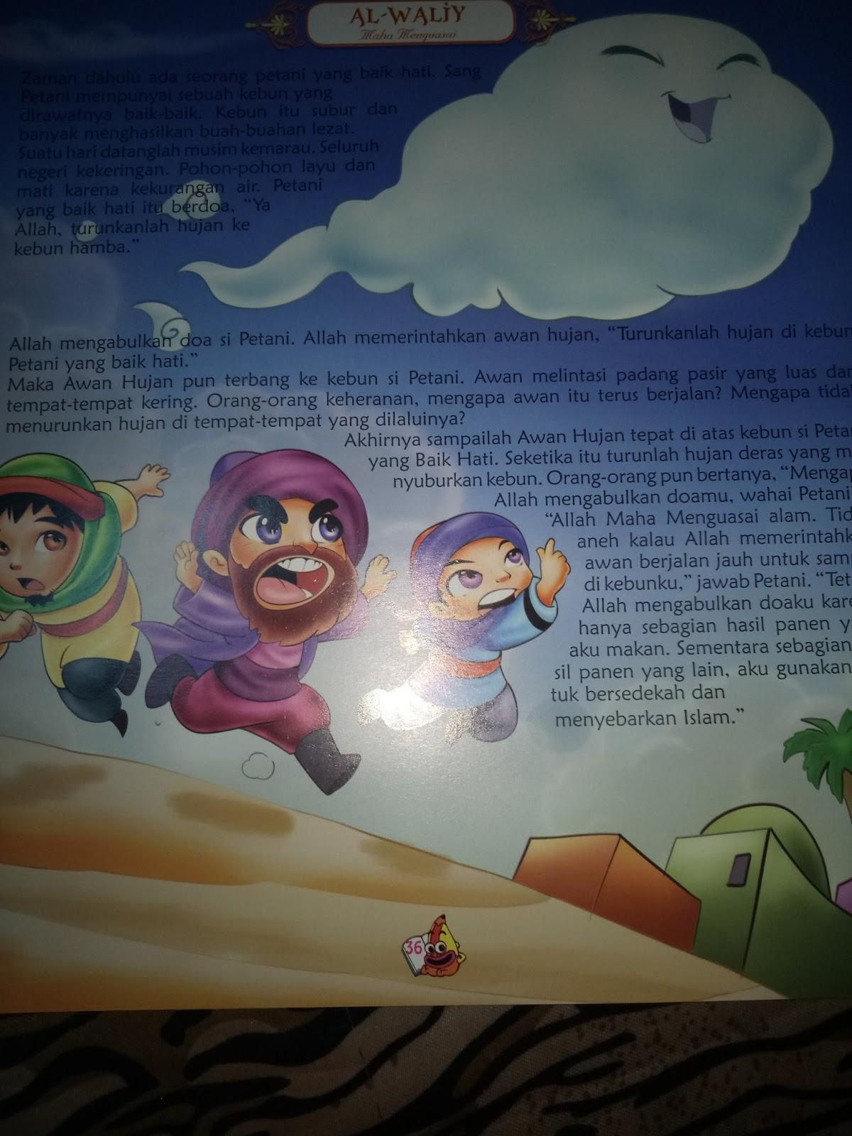 Cerita Asmaul Husna Al Waliy Maha Menguasai Alhamdulillah Buatlah Gambar
