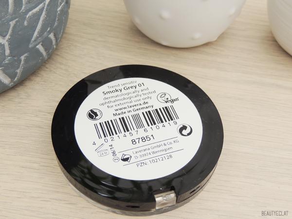 revue avis test smoky grey lavera palette fards a paupieres