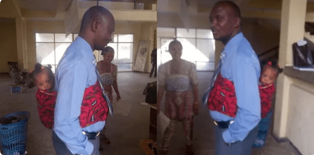 Nigerian man backs daughter