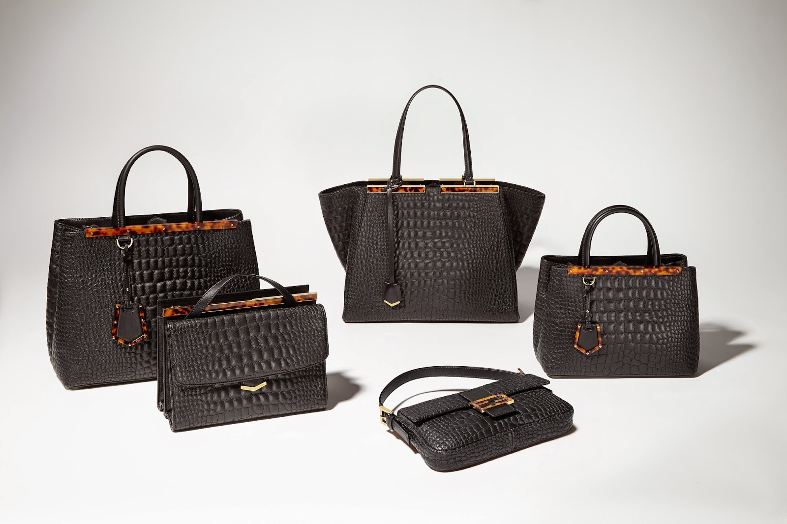 Fendi Launches Croco Embroidery Bags