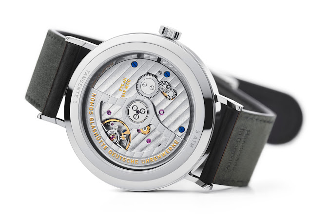 The back case of the Nomos Glashuette Tangente neomatik 41 Update