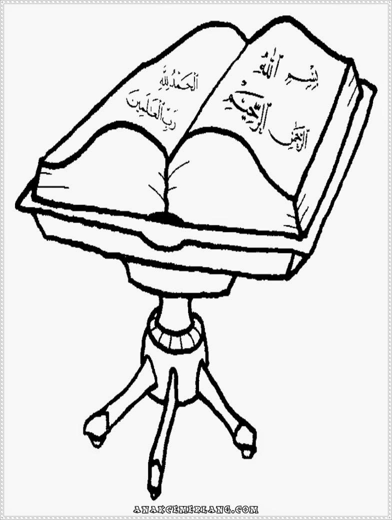Mewarnai Gambar Kitab Suci AlQuran  Anak Cemerlang