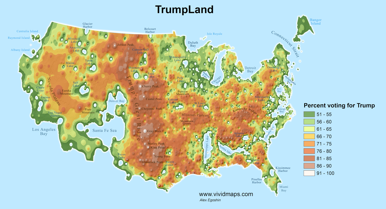 TrumpLand and Clinton Archipelago