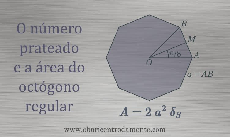 O número prateado e a área do octógono regular