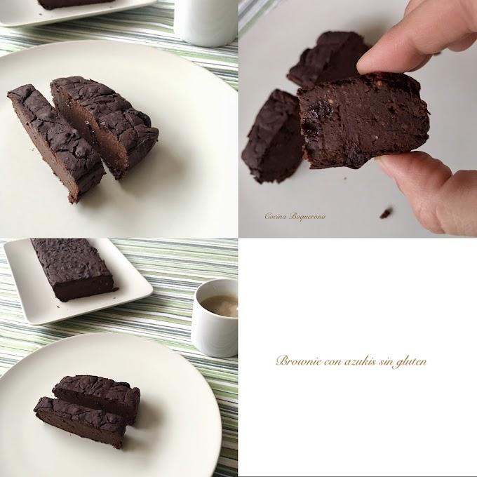 Brownie con azukis sin gluten